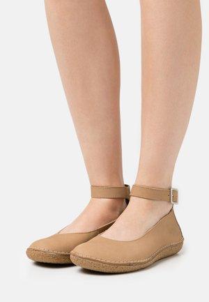 HONNORA - Ankle strap ballet pumps - beige