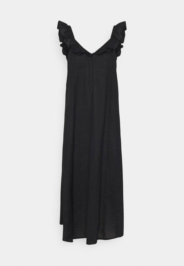 ONLALLIE LIFE STRAP ABOVE CALF DRESS - Korte jurk - black
