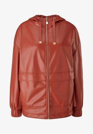 Faux leather jacket - cinnamon