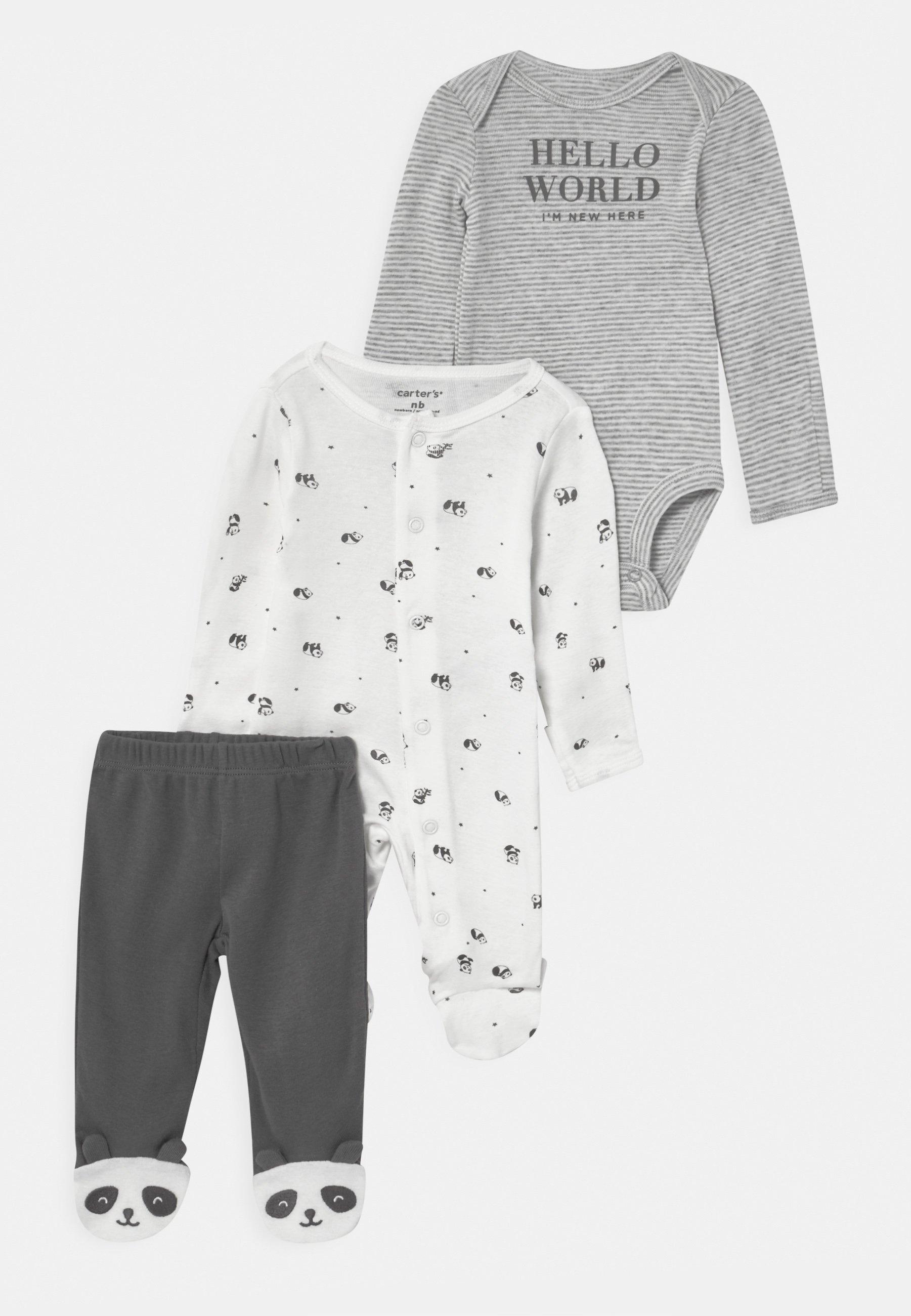 Kinder PANDA SET UNISEX - Stoffhose