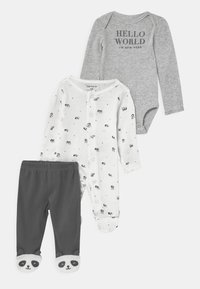 Carter's - PANDA SET UNISEX - Broek - white/black - 0