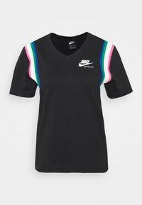 Print T-shirt - black/sail/white