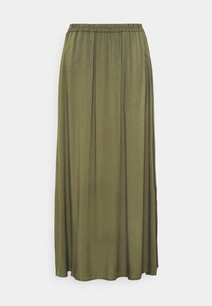 VMSIMPLY EASY SKIRT - Maxi skirt - ivy green