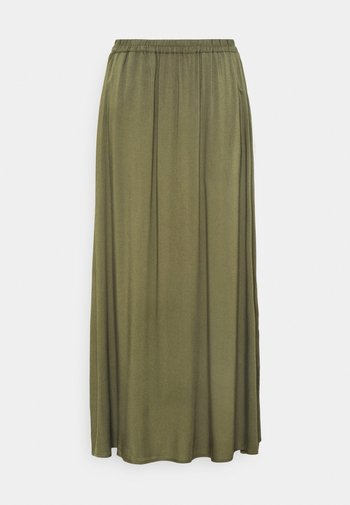 VMSIMPLY EASY SKIRT - Maxi sukně - ivy green