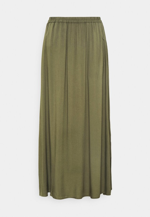 VMSIMPLY EASY SKIRT - Maxirock - ivy green