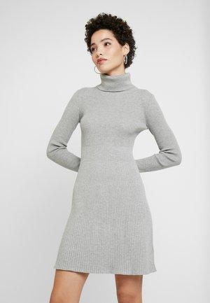 DRESS - Gebreide jurk - dark heather grey