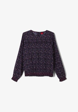 Blouse - dark blue aop