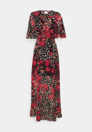 Maxi dress - nero/cerise
