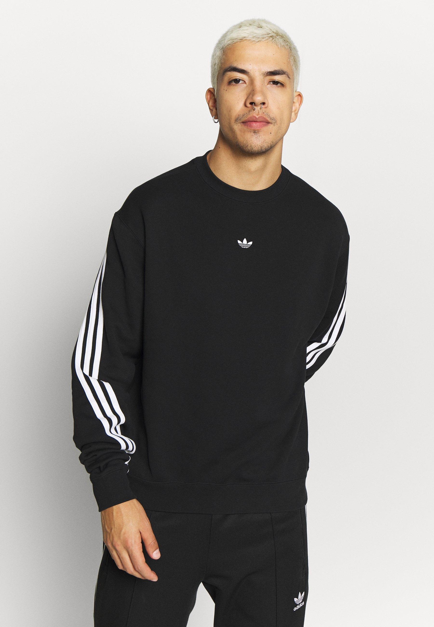 Korkealaatuinen Halpa Miesten vaatteet Sarja dfKJIUp97454sfGHYHD adidas Originals SPORT COLLECTION LONG SLEEVE PULLOVER Collegepaita black/white