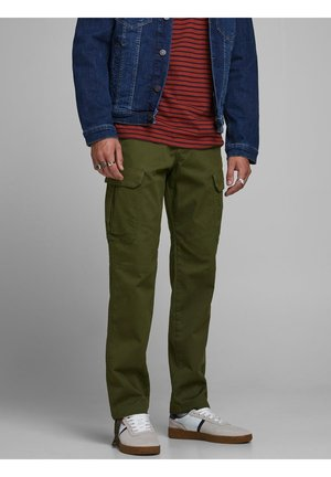 Pantaloni cargo - olive night