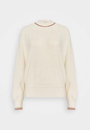 CREWNECKPULL WITH SPORTY DETAILS - Svetr - off white