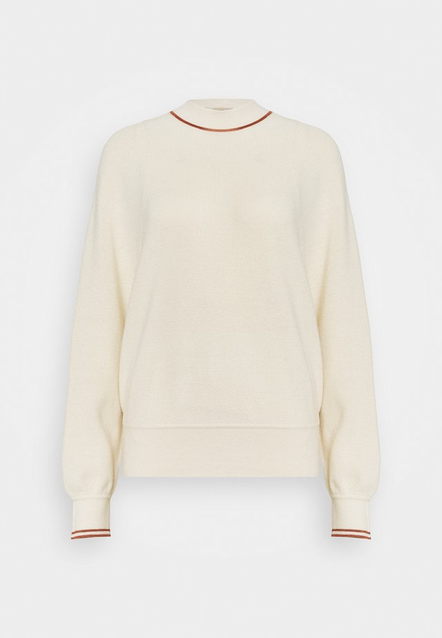 CREWNECKPULL WITH SPORTY DETAILS - Jersey de punto - off white