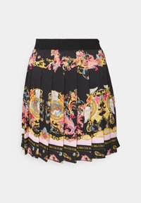 Versace Jeans Couture - LADY SKIRT - Pleated skirt - black/pink confetti - 5