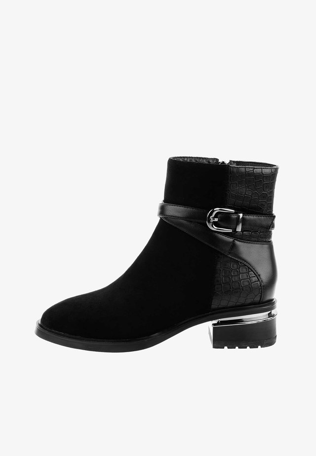LEQUILE LEQUILE - Cowboy/biker ankle boot - czarny