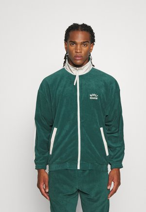 TRACK JACKET UNISEX - Zip-up hoodie - green/off white