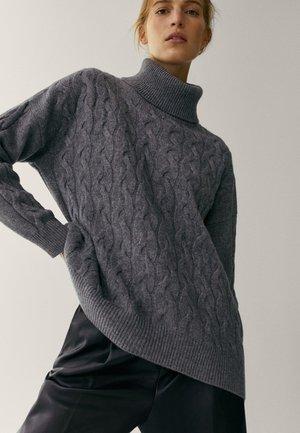MIT ROLLKRAGEN  - Trui - dark grey