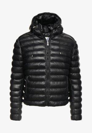 WARMER - Veste en cuir - black
