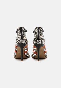 San Marina - NITOBA - High heeled sandals - noir blanc - 3