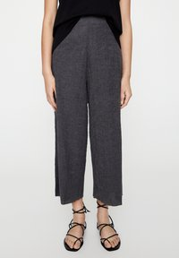 PULL&BEAR - Trousers - dark grey - 0