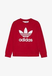 adidas Originals - TREFOIL CREW - Sweatshirt - scarlet/white - 2