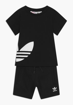 TREFOIL SET - Tracksuit bottoms - black/white