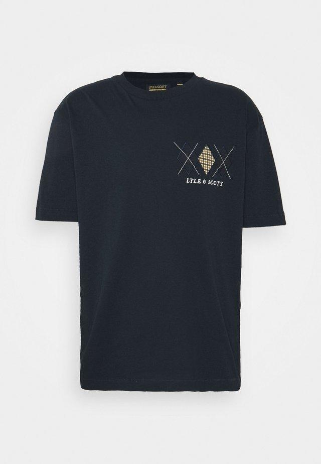 DIAMOND APPLIQUE - T-shirt z nadrukiem - dark navy