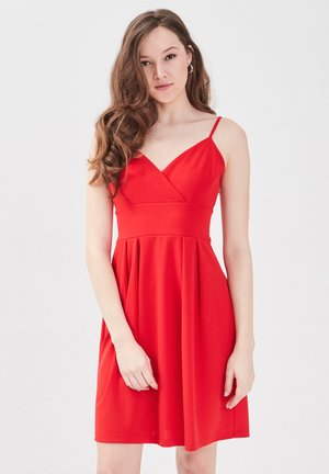 Day dress - rouge
