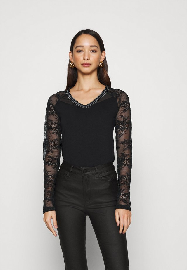TERRIE - T-shirt à manches longues - noir