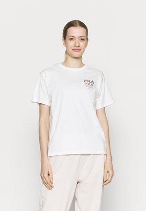 CORA TEE - Print T-shirt - snow white