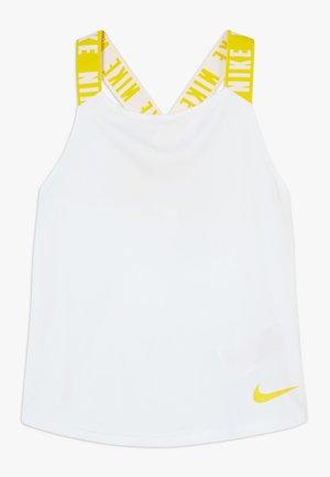 DRY TANK ELASTIKA - Koszulka sportowa - white/speed yellow
