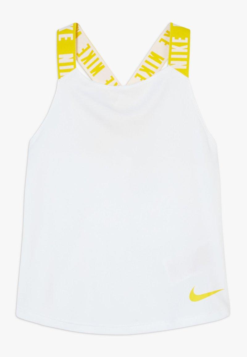 Nike Performance - DRY TANK ELASTIKA - Sportshirt - white/speed yellow
