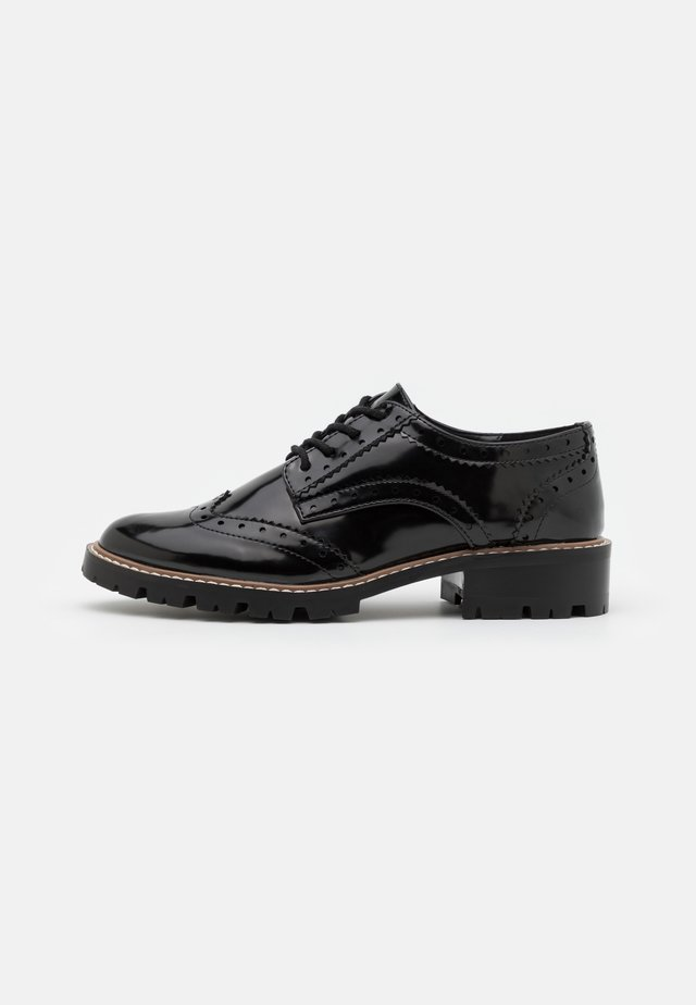 LEAR BROGUE LOAFER - Snörskor - black