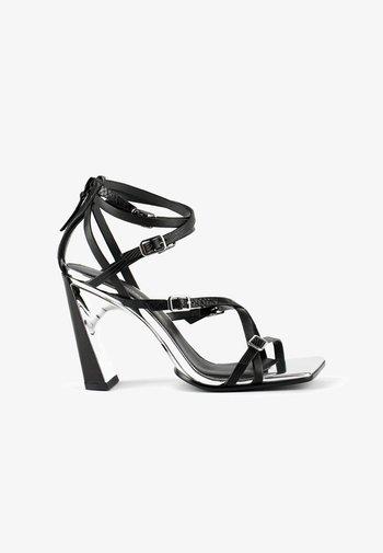 MOLTEN STRAPPY - Sandály na vysokém podpatku - black