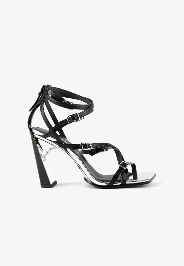 MOLTEN STRAPPY - Sandalen met hoge hak - black