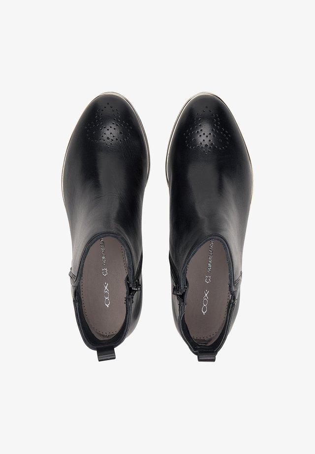 LEDER-BOOTS - Classic ankle boots - schwarz