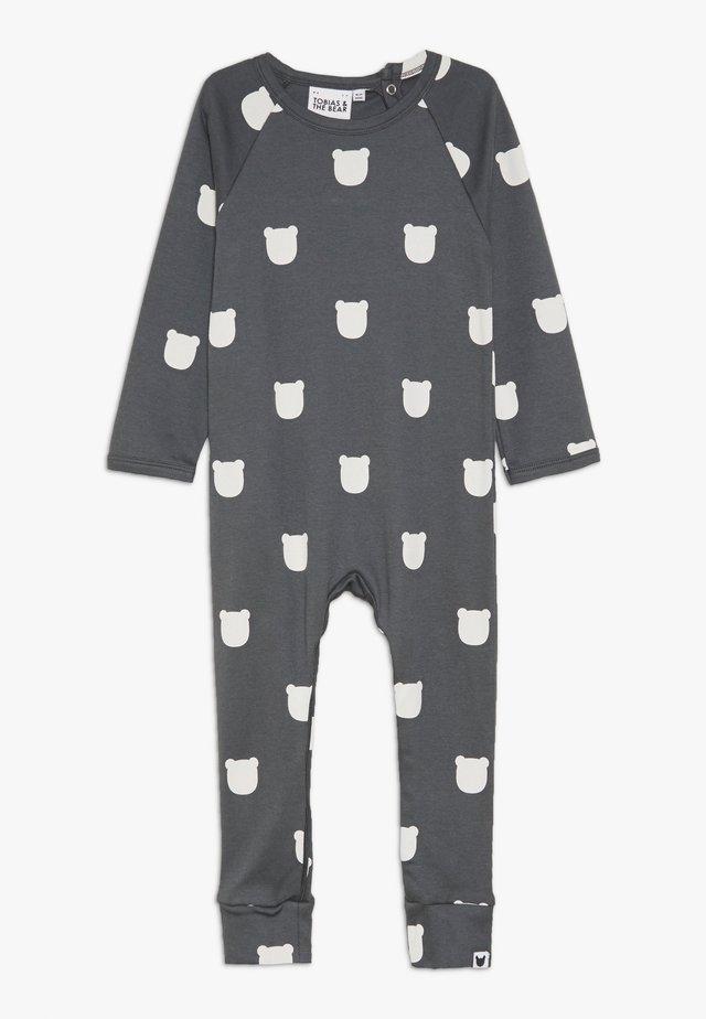 BEAR ROMPER BABY - Pyjamas - charcoal