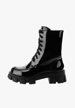 FOCETTE  - Šněrovací kotníkové boty - black