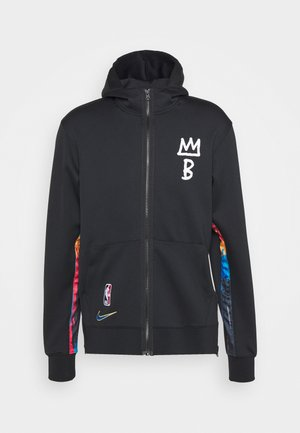 NBA BROOKLYN NETS CITY EDITON THERMAFLEX FULL ZIP JACKET - Klubtrøjer - black/black/black/soar