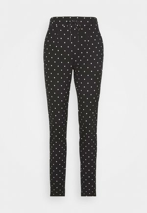 ONLPOPTRASH EASY DOT PANT PNT TALL - Trousers - black