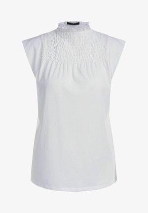 MIT SMOKDETAIL - Print T-shirt - cloud dancer