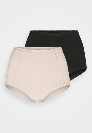 BRIEF 2 PACK - Shapewear - black/nude