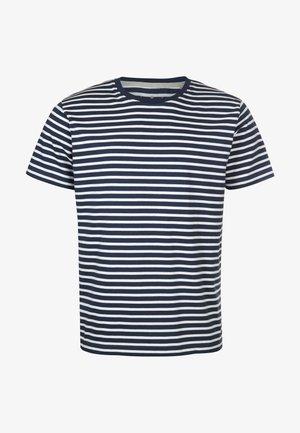 JOHANN GESTREIFT - Print T-shirt - darkblue white