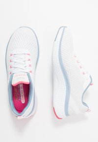 Skechers Sport - SOLAR FUSE - Trainers - white/blue/pink - 3