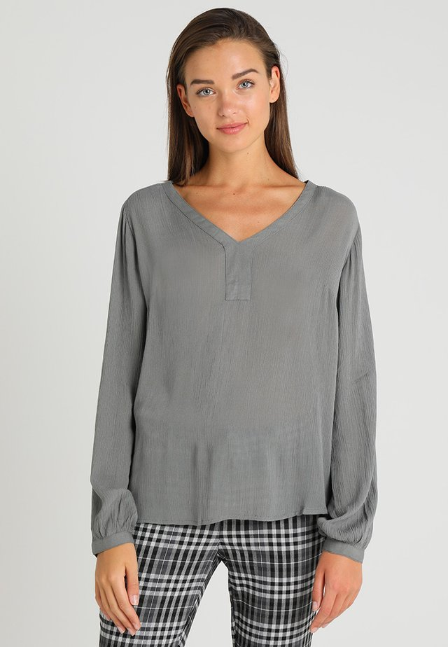 AMBER BLOUSE - Tunique - smoked pearl