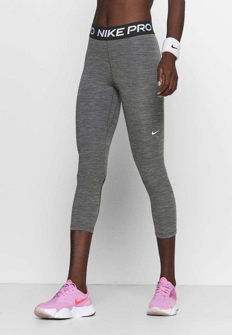 Nike Performance - CROP - Leggings - black/white