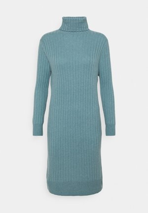 TURTLENECK DRESS - Abito in maglia - steel blue