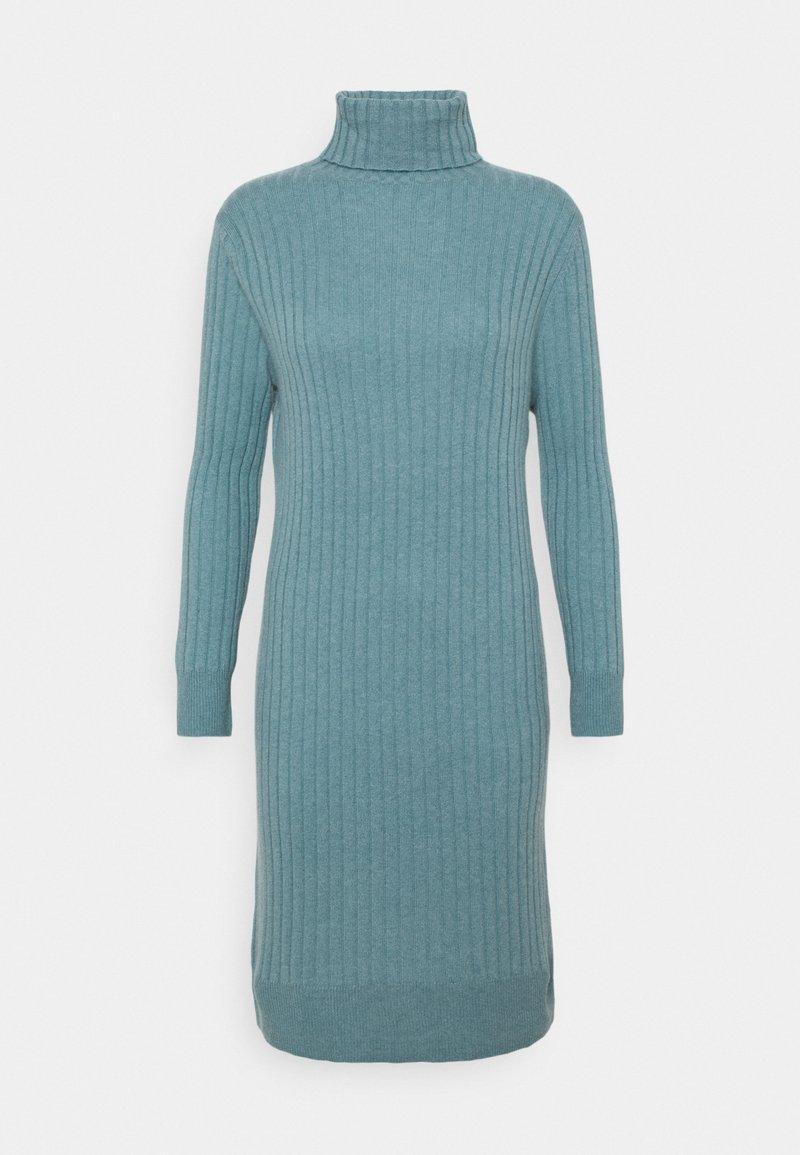 pure cashmere - TURTLENECK DRESS - Jumper dress - steel blue