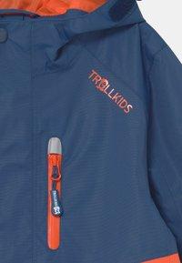 TrollKids - NUSFJORD UNISEX - Hardshell jacket - mystic blue/orange - 2