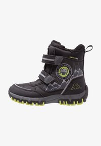 Kappa - RESCUE TEX - Winter boots - black/lime - 1
