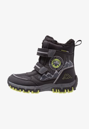 RESCUE TEX - Botas para la nieve - black/lime